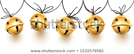 Jingle Bells Christmas Greeting Card with Bow Stock photo © robuart