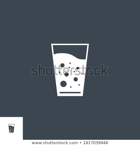 Vidrio agua vector icono aislado blanco Foto stock © smoki