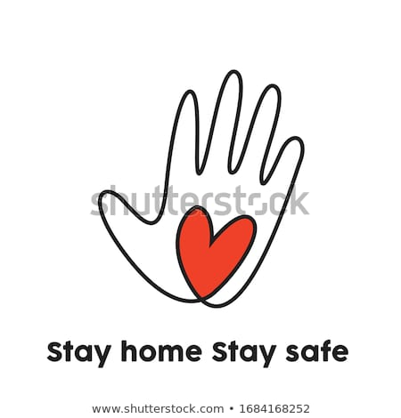stay home stay safe awareness background design stock photo © sarts