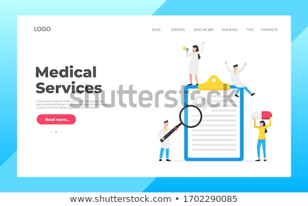 Exams and tests concept landing page Stock photo © RAStudio