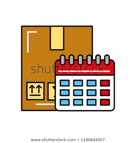 Compras on-line calendário trabalhar mapa compras Foto stock © yupiramos
