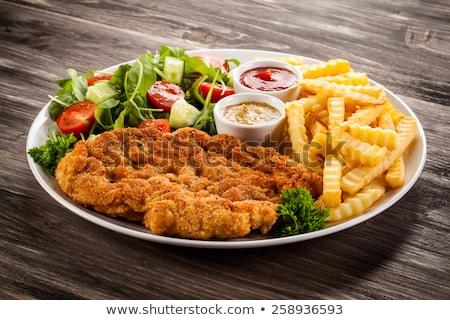 Beefsteak with fried potato Stock photo © Alex9500