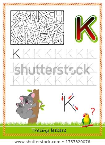 Brief woorden onderwijs taak kinderen cartoon Stockfoto © izakowski
