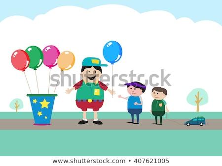 Balonlar helyum satıcı kauçuk Stok fotoğraf © jossdiim