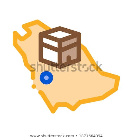 location of kaaba geolocation icon vector outline illustration Stock photo © pikepicture