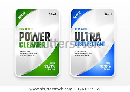 Deterjan dezenfektan temizleyici etiketler ayarlamak dizayn Stok fotoğraf © SArts