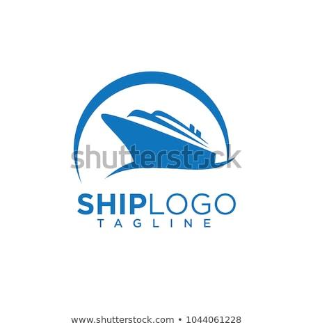 Statek wycieczkowy logo szablon wektora ikona projektu Zdjęcia stock © Ggs