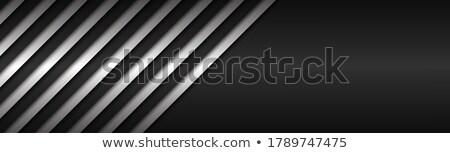 黒白 抽象的な メタリック ベクトル ヘッダ 行 ストックフォト © kurkalukas