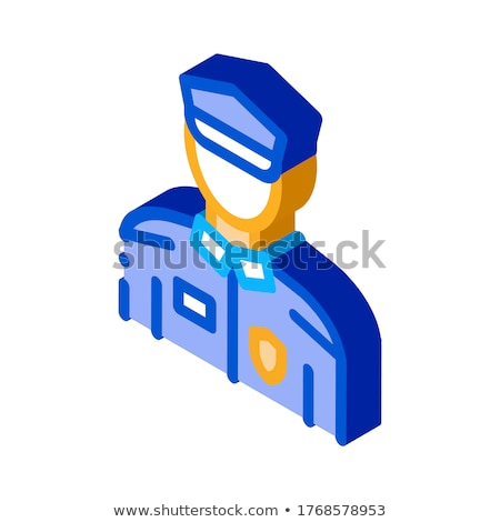 Policial polícia terno isométrica ícone vetor Foto stock © pikepicture
