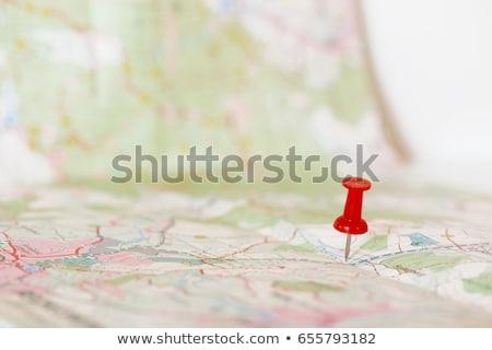 Stock fotó: Pushpin On Map