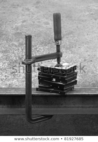 compressed stack of hard disks-black and white shot Stock photo © gewoldi
