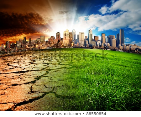 Explosion earth disaster concept Stock photo © Krisdog