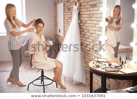 Bride dressing up Stock photo © sapegina