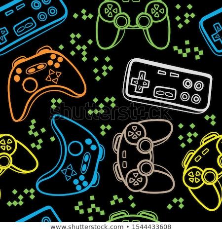 Gra komputerowa komputera gry gry elektronicznej rozrywki Zdjęcia stock © leeser