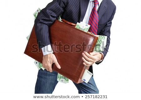 Bussinessman with the money suitcase Stock photo © carbouval