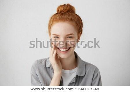 Beauty Shot Of Smiling Redhead Stock photo © stryjek