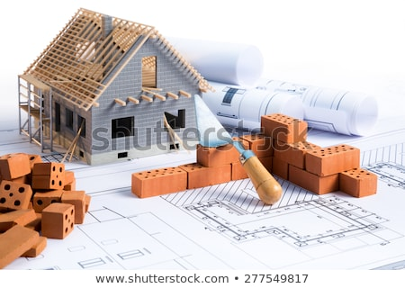 Architect with a model of a new housing estate Stock photo © photography33