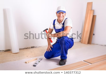 portrait of a man laying parquet Stock photo © photography33