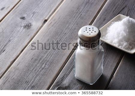 Só shaker fa asztal üveg üveg fürdő Stock fotó © nenovbrothers