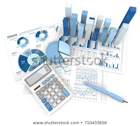 Viewing financial report Stock photo © raywoo