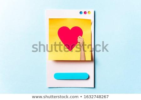 ソーシャルメディア · 青 · バーチャル · スペース · インターネット · コンピュータ - ストックフォト © Ansonstock