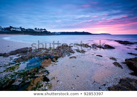 Plage cornwall paysage sable blanche soleil Photo stock © latent