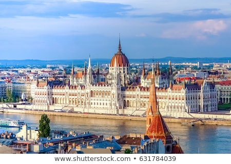Budapeşte parlamento görmek Bina gökyüzü Stok fotoğraf © krysek