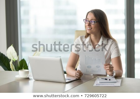 Woman enjoying an upwards graph Stock photo © photography33