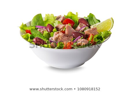 Tuna salad isolated on white Stock photo © ozaiachin