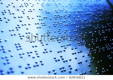 Plain Braille Page Macro Foto d'archivio © cozyta