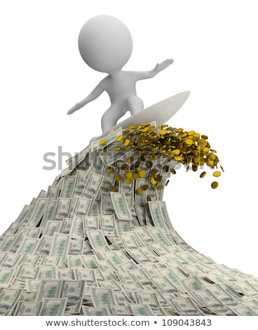 3d small people   wave of money stock photo © anatolym