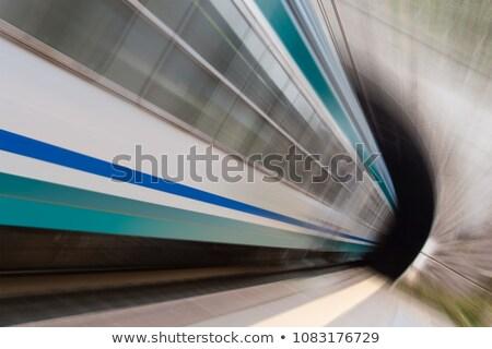 Tren túnel movimiento azul Foto stock © ajfilgud