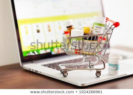 Línea farmacia medicina ratón de la computadora Foto stock © devon