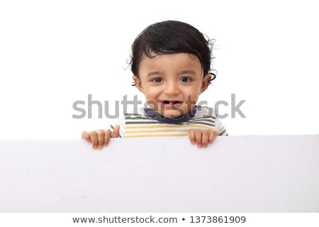 индийской прелестный ребенка играет пер белый Сток-фото © ziprashantzi