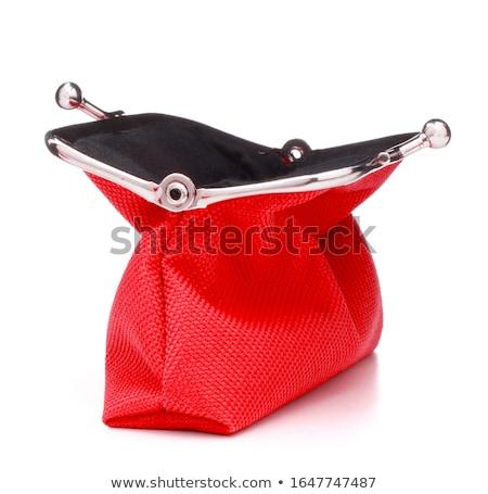 красный женщины кошелька изолированный белый деньги Сток-фото © pinkblue