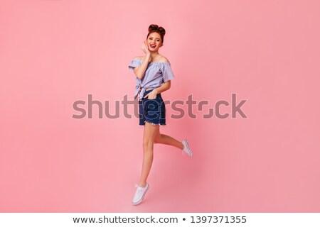 Moda model dość wdzięczny dziewczyna Zdjęcia stock © gromovataya