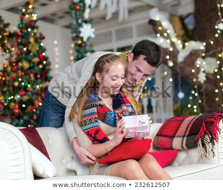 man giving his partner gift stock photo © photography33