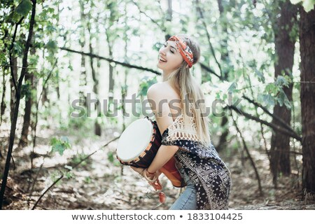 Portrait of a woman with her djembe Stock photo © photography33