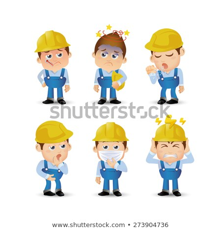 Construction worker with toothache Stock photo © photography33