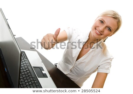 portrait of ecstatic secretary thumbs up Stock photo © photography33
