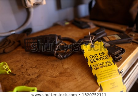 Construction worker with a two-way radio Stock photo © photography33