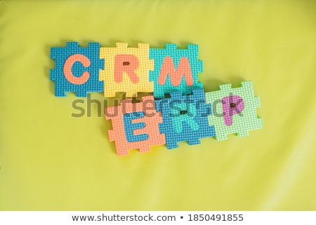 Crm kockák vásárló kapcsolat vezetőség üzlet Stock fotó © MacXever