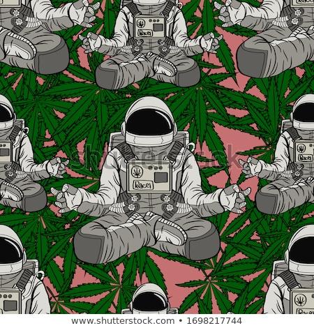 cannabis · végtelen · minta · absztrakt · textúra · vektor · művészet - stock fotó © robertosch