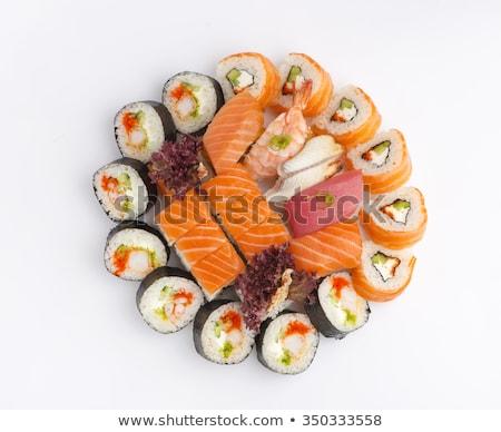 sushi set over white stock photo © Elmiko