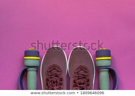 Rosa esportes diversão tecido retro sapato Foto stock © pterwort