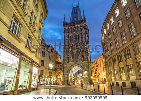 Pólvora portão Praga República Checa casa cidade Foto stock © phbcz