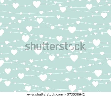 Dekoratív szív terv levél papír jegyzetek Stock fotó © Kotenko