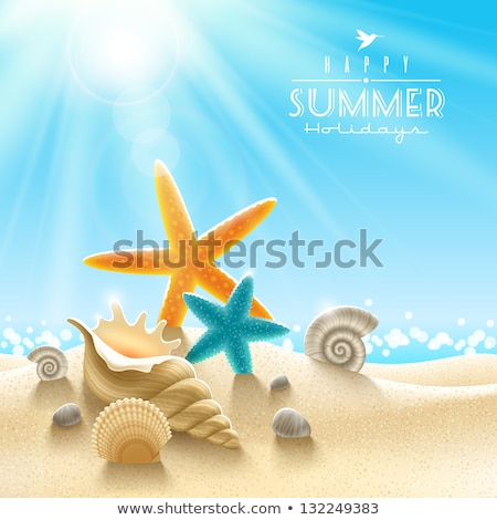 Stock photo: Reflection of Sun in the Sand