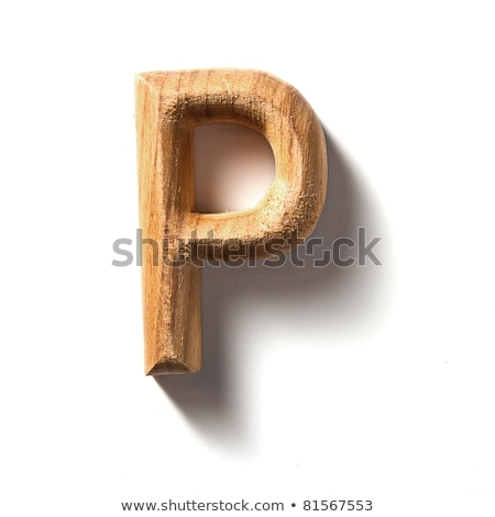 Ahşap alfabe ağaç orman dizayn Stok fotoğraf © ozaiachin