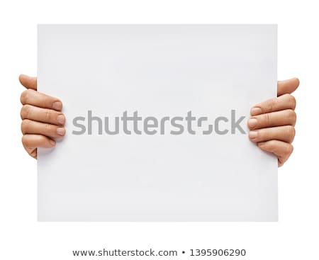 férfi · kéz · tábla · boldog · haj · ír - stock fotó © photography33